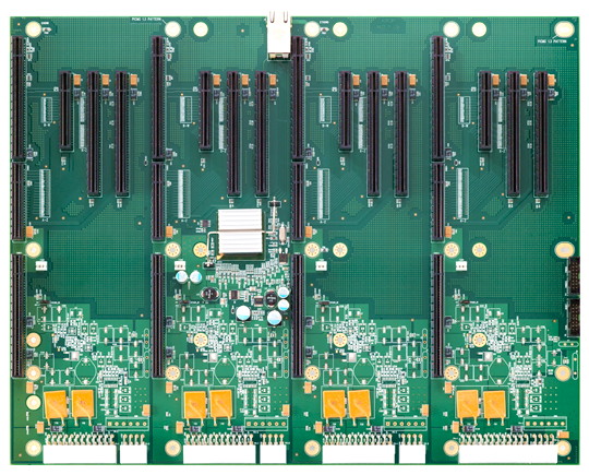 BP4FS6890 Four Segment PCI Express Backplane